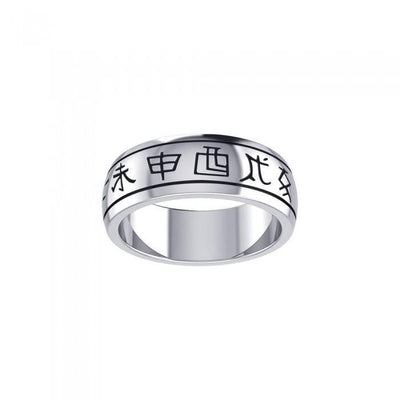 Chinese Astrology Silver Ring TRI103