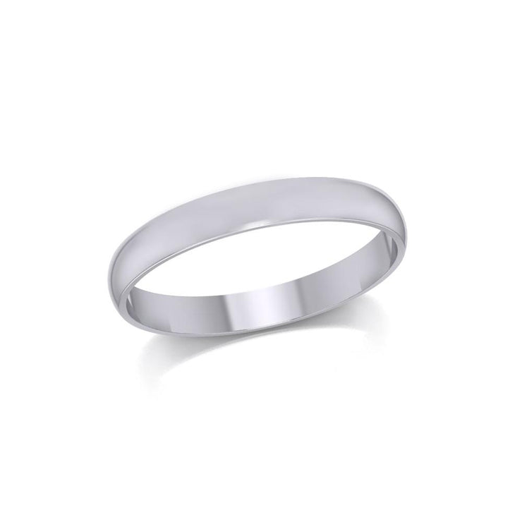 Silver Medium Size Band Ring TRI1163 Ring