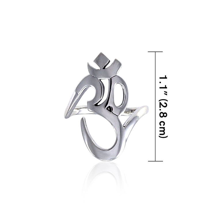 OM Expression of Spiritual Perfection Ring TRI1220 Ring