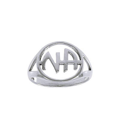 Narcotics Anonymous Silver Recovery Ring TRI1386