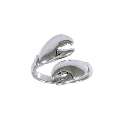 Lobster Claw Silver Wrap Ring TRI1416
