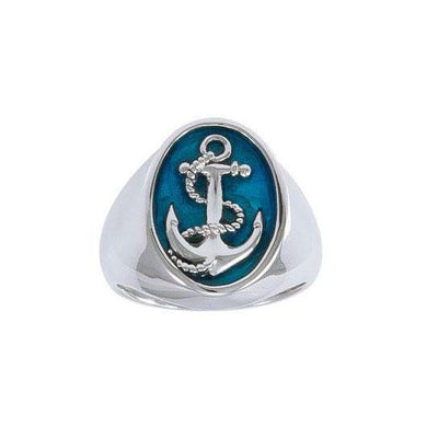 Anchor Silver Ring TRI1462