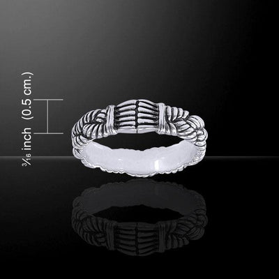 Braided Rope Silver Ring TRI1470