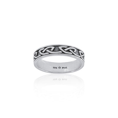 Simple Celtic Knot Sterling Silver Ring TRI1477 Ring