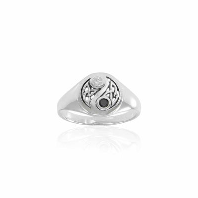 Celtic Knot Yin Yang Ring TRI1537