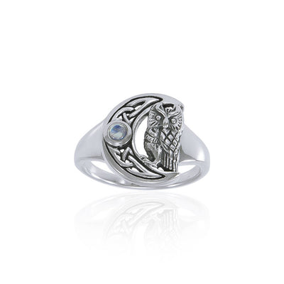 Celtic Owl Moon Ring TRI1542 Ring
