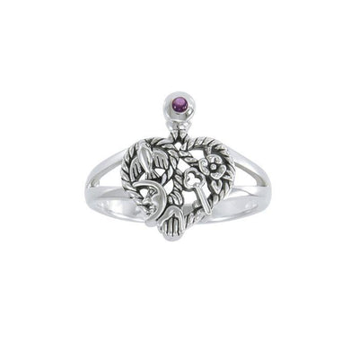 Gemstone Cimaruta Witch Ring TRI1579