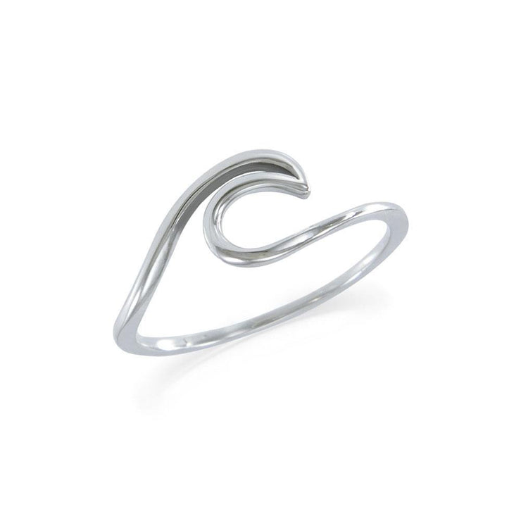 The frothing waves of the sea ~ Sterling Silver Ring TRI1632 Ring