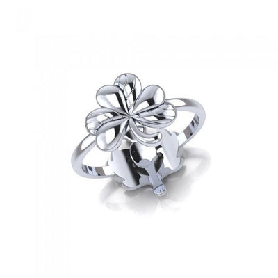 Shamrock and Thistle Sterling Silver 2 in 1 Ring