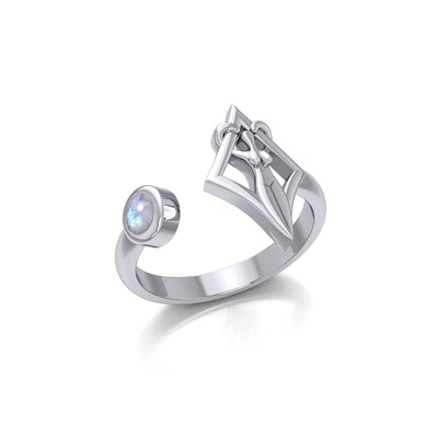 Small Silver Goddess Ring with Gemstone TRI1801 Ring