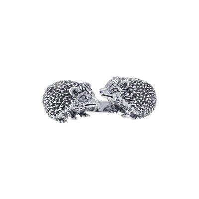 Kissing Porcupines Silver Adjustable Wrap Ring TRI1804