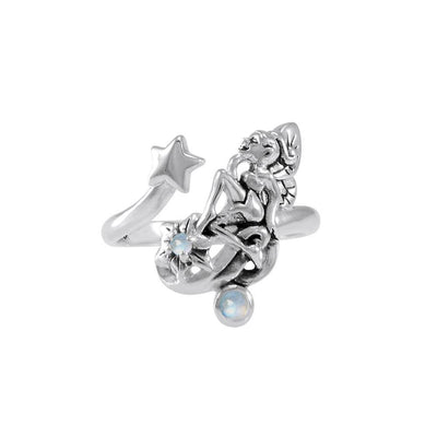 Fairy with Star Silver Ring with Gemstone TRI1822 Ring