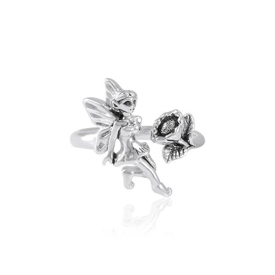 Fairy and Flower Silver Ring TRI1824 Ring