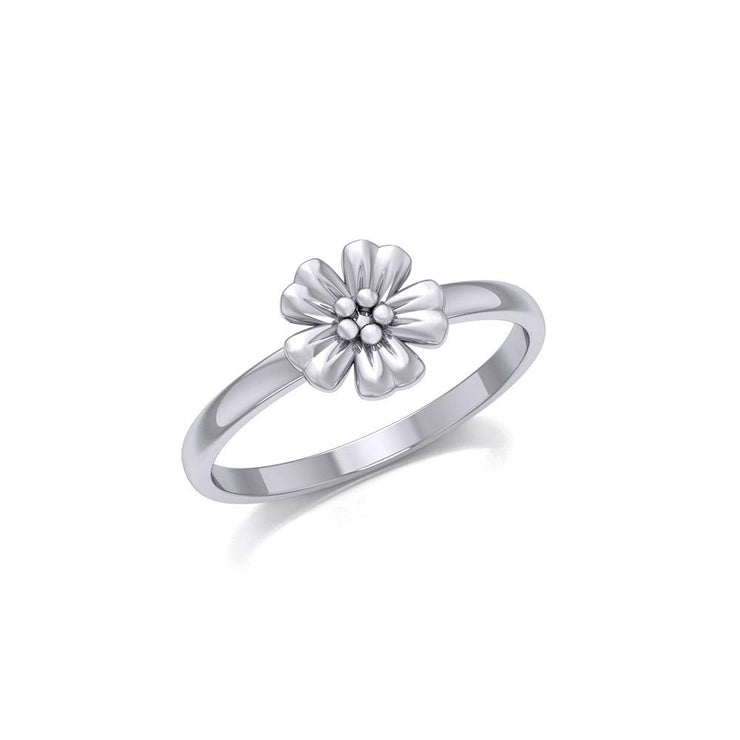 Small Flower Silver Ring TRI1869