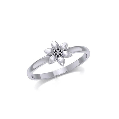 Cute Flower Silver Ring TRI1871
