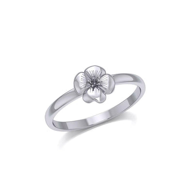 Little Flower Silver Ring TRI1873 - Peter Stone Wholesale