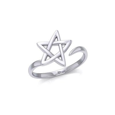 The Star Silver Wrap Ring TRI1891