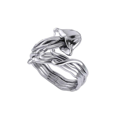 Box Jellyfish Silver Wrap Ring TRI1896 Ring