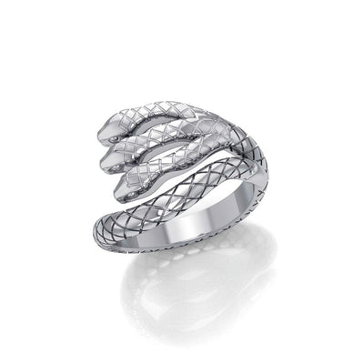 Fierce and Ferocious Sterling Silver Three Headed Cobra Ring TRI1899 - Peter Stone Wholesale
