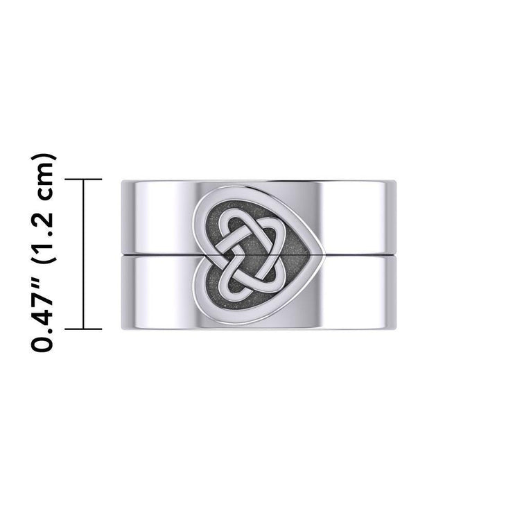 Celtic Heart Love Silver Commitment Band Ring TRI1941 Ring