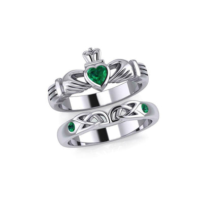 Celtic Claddagh Love Silver Commitment Band Ring TRI1942 Ring