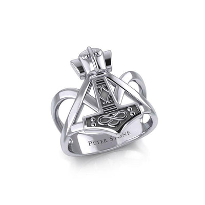 Thors Hammer Silver Ring TRI1960 Ring