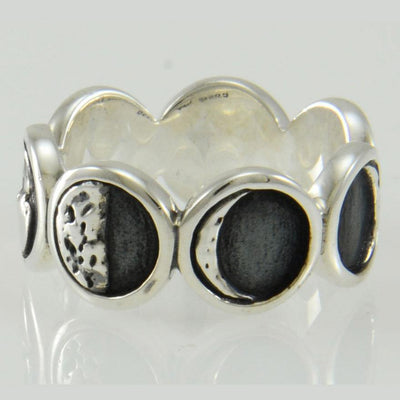 Moon Phases Silver Ring TRI2033