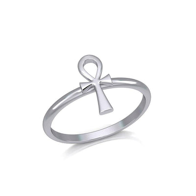 Egyptian Ankh Silver Ring TRI2055 Ring