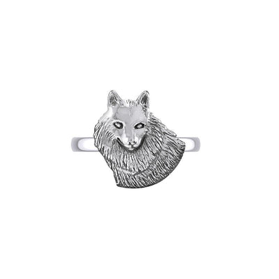 Wonderful Wolf Sterling Silver Ring TRI2125 Ring