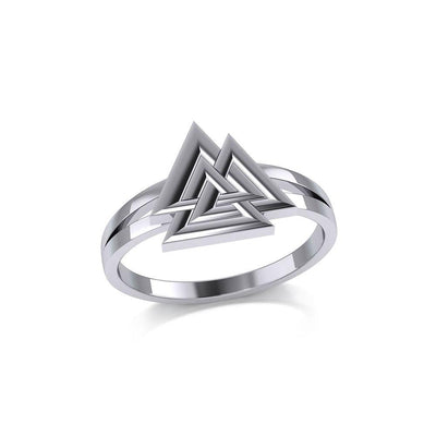 Sterling Silver Viking Valknut Ring Jewelry TRI2152