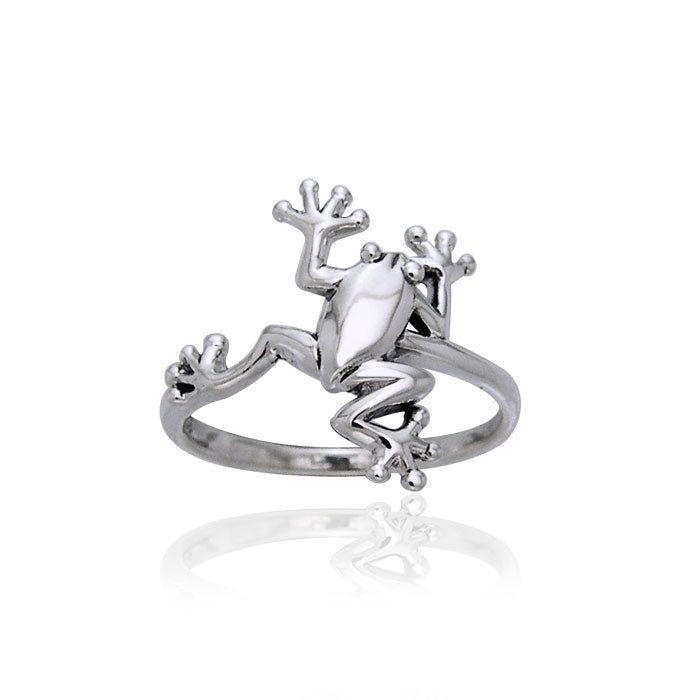 Frog Silver Ring TRI391