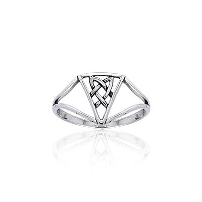 Celtic Triquetra Knot Sterling Silver Ring TRI398 Ring