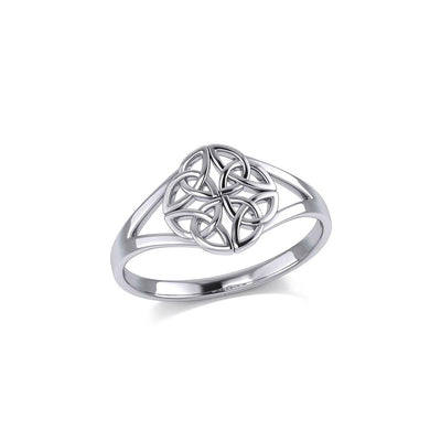 Celtic Knotwork Sterling Silver Ring TRI399 Ring