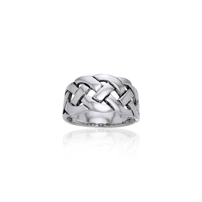 Bold Braided Celtic Knot Sterling Silver Ring TRI533