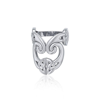 The deity's pervasive energy ~ Sterling Silver Celtic Triquetra Ring TRI634 Ring