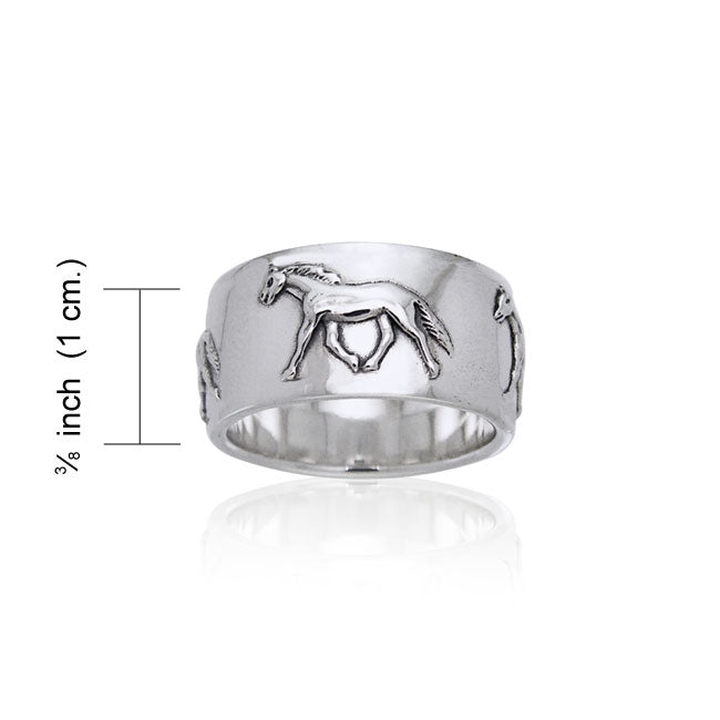 Palouse Horse Silver Ring TRI651