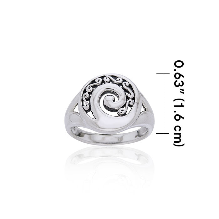 Double Spiral Sterling Silver Ring TRI672 Ring