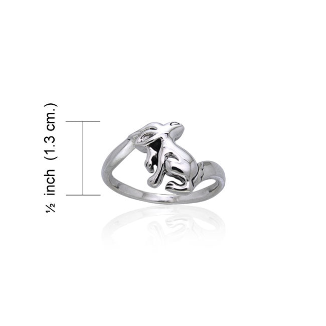 Hare Sterling Silver Ring TRI870 Ring