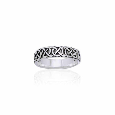Celtic Knot Sterling Silver Ring TRI883