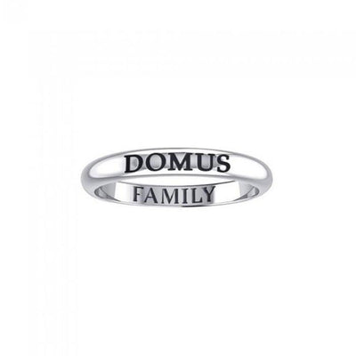 DOMUS FAMILY Sterling Silver Ring TRI919