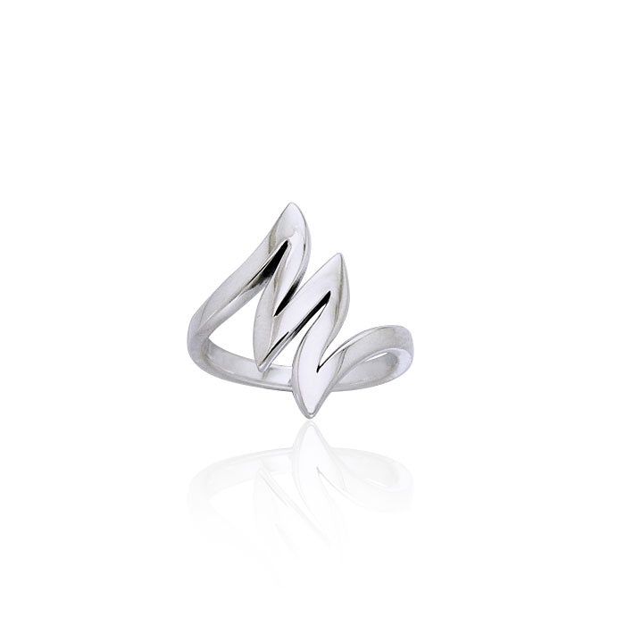 Lightning Bolt Silver Ring TRI964