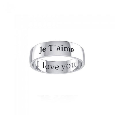I Love You Sterling Silver Ring TRI976