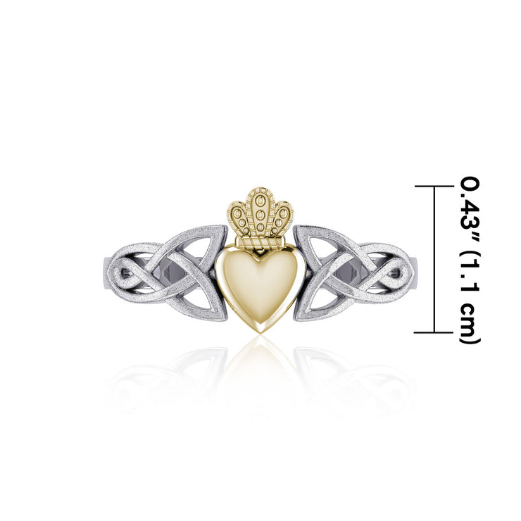 Celtic Knot Claddagh & Sand brush Ring TRV1743-S Ring