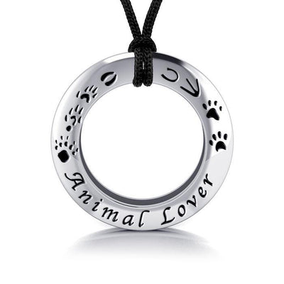 Animal Lover Silver Pendant and Cord Set TSE262