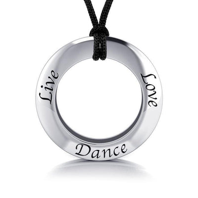 Live Love Dance Silver Pendant and Cord Set TSE269