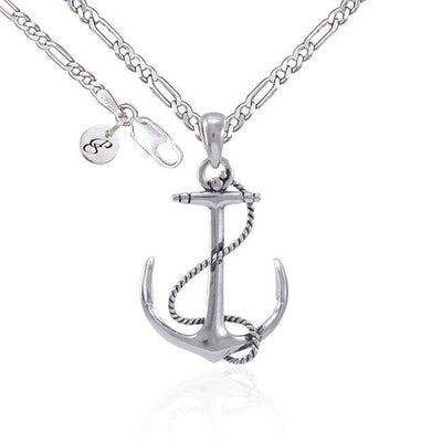 Anchor Rope Silver Necklace Set TSE696