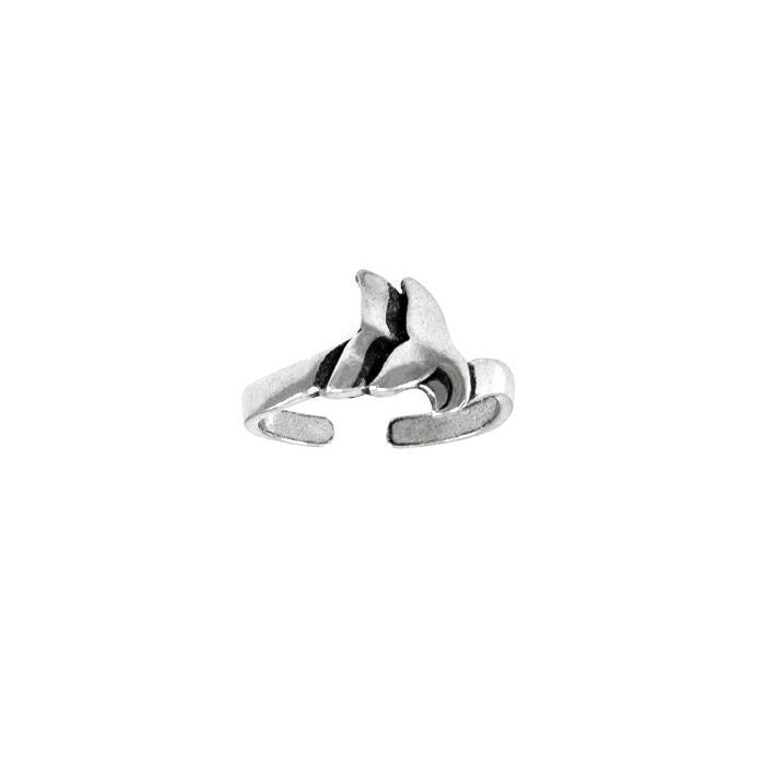 Double Whale Silver Wrap Ring TTR091