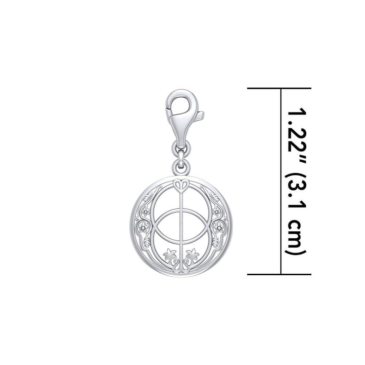 Silver Chalice Well Charm TWC014 Clip Charm