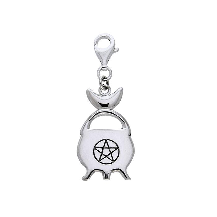 Magickal Witches Cauldron Silver Charm TWC020
