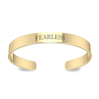 Small Cuff Bracelet 14K Gold Plated VBA195 Bangle